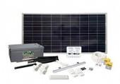 Solcellepanel, batterier og ladere
